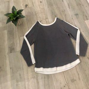 💘 Derek Heart Sweatshirt with Crisscross on back